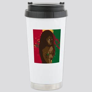 Rasta Girl Stainless Steel Travel Mug