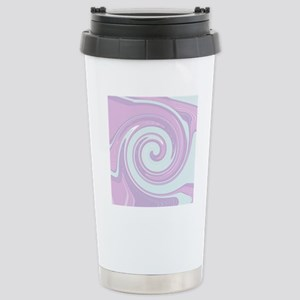 Funky Pastel Abstract A Stainless Steel Travel Mug