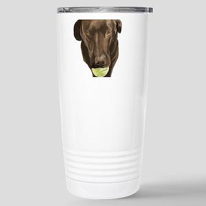 labrador retiever with a tennis ball Travel Mug