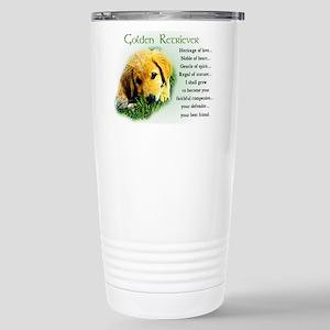 Golden Retriever Stainless Steel Travel Mug