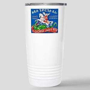 Ethiopia Beer Label 3 Stainless Steel Travel Mug