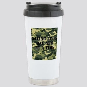 savinglivescamo2 Stainless Steel Travel Mug