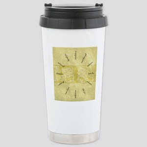 Theater-Mask-clockLARGE Stainless Steel Travel Mug