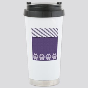 Purple Owls Stainless Steel Travel Mug