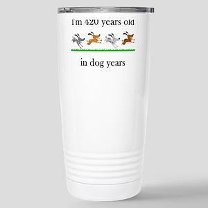 60 birthday dog years 1 Stainless Steel Travel Mug