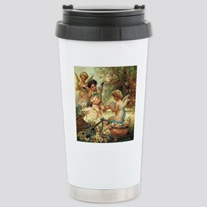 Victorian Angels by Zat Stainless Steel Travel Mug