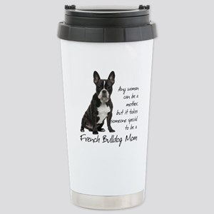 Frenchie Mom Stainless Steel Travel Mug