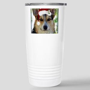 Handsome Holiday Corgi Stainless Steel Travel Mug