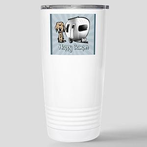 Happy Camper Dog Stainless Steel Travel Mug