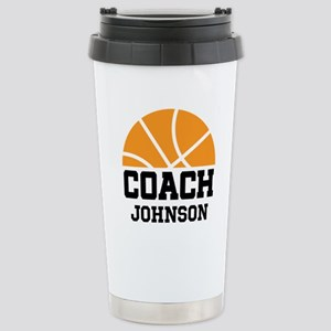 Personalized Basketball Coach Gift Stainless Steel
