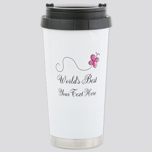 Personalized Worlds Best butterfly design Stainles