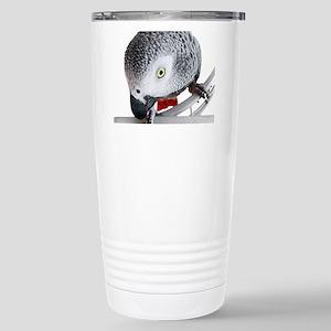 African Grey Parrot Stainless Steel Travel Mug