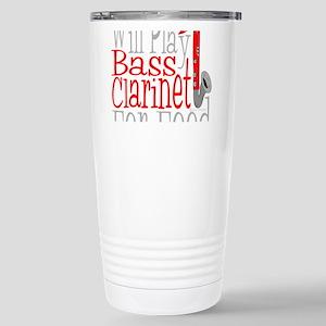 Will Play Bass Clarinet Stainless Steel Travel Mug