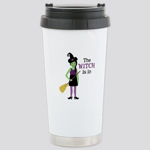 The Witch Is In Travel Mug