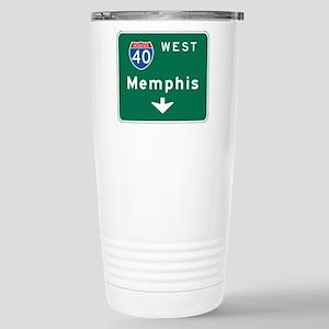 Memphis, TN Highway Sign Stainless Steel Travel Mu