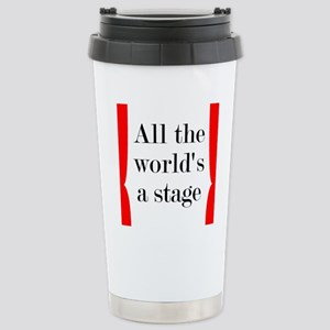 World's a Stage Stainless Steel Travel Mug