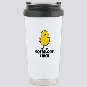 Sociology Chick Stainless Steel Travel Mug