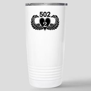 2-502 Black Heart Stainless Steel Travel Mug