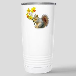 Squirrel Daffodils Stainless Steel Travel Mug