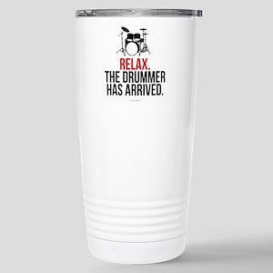 Relax Drummer Has Arriv Stainless Steel Travel Mug