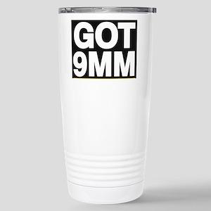 got 9mm yellow Travel Mug