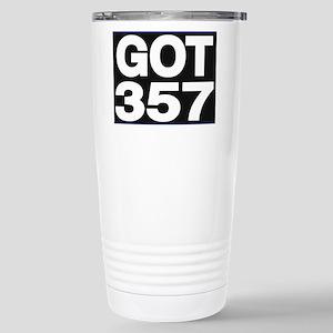 got 357 blue Travel Mug