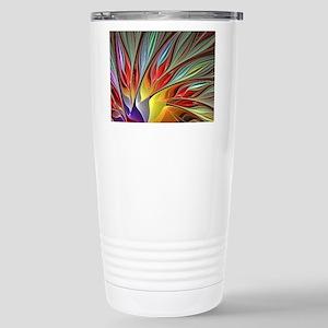 Fractal Bird of Paradis Stainless Steel Travel Mug