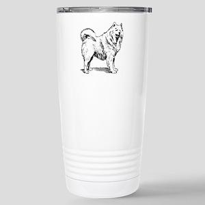 Samoyed dog Stainless Steel Travel Mug