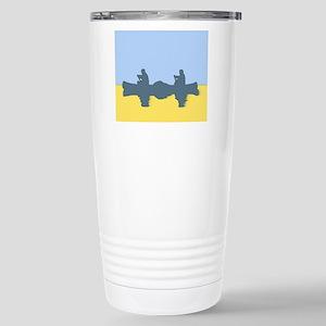 CHALK BLUE SKY CANOE Stainless Steel Travel Mug