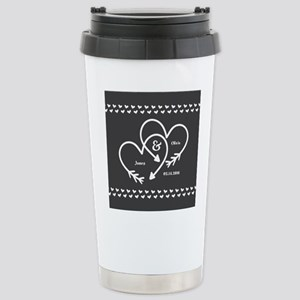 Mr. and Mrs. Wedding Cu Stainless Steel Travel Mug
