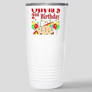 2ND BIRTHDAY Stainless Steel Travel Mug