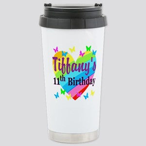 PERSONALIZED 11TH Stainless Steel Travel Mug