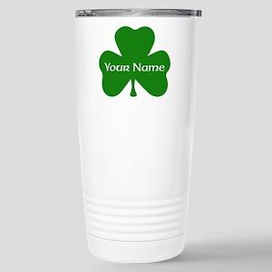 CUSTOM Shamrock with Your Name Travel Mug