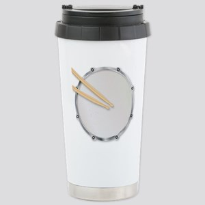Drumskin and Sticks Stainless Steel Travel Mug