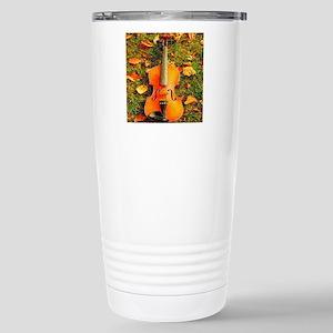 romantic fall leaves vi Stainless Steel Travel Mug