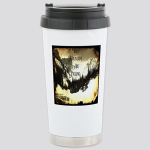 vintage mountains are c Stainless Steel Travel Mug