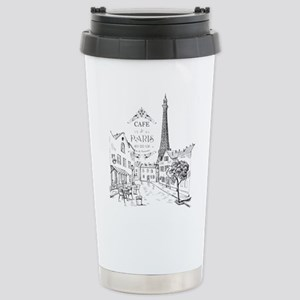 Cafe Paris Stainless Steel Travel Mug