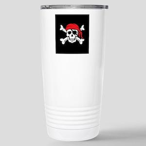Jolly Roger Pirate (on Stainless Steel Travel Mug