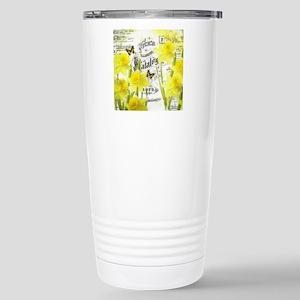 Vintage daffodils Stainless Steel Travel Mug