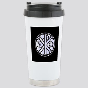 Alpha Omega Glass Windo Stainless Steel Travel Mug