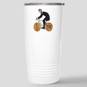 Abraham Lincoln On A Bi Stainless Steel Travel Mug