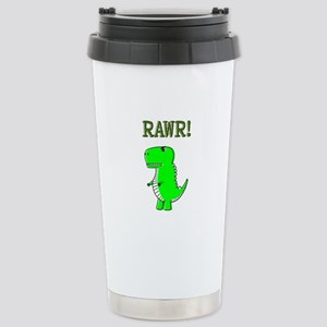 Cute Angry T-Rex RAWR Stainless Steel Travel Mug