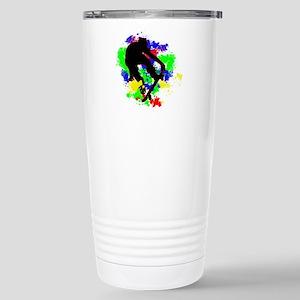Graffiti Paint Splotche Stainless Steel Travel Mug