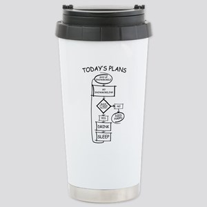 Snowmobiling Flow Chart Stainless Steel Travel Mug