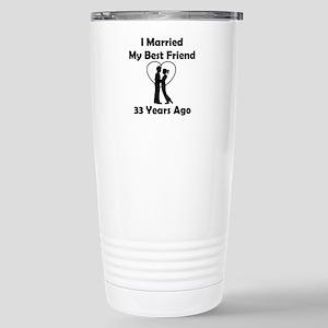 I Married My Best Frien Stainless Steel Travel Mug
