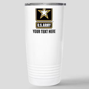 CUSTOM TEXT U.S. Army Travel Mug