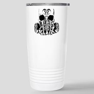 Biohazard Zombie Skull Fuck U Travel Mug