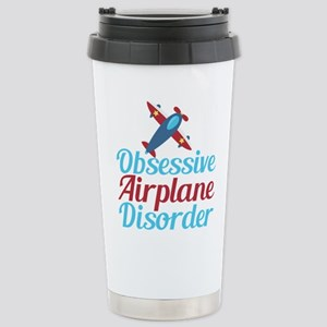 Cool Airplane 16 oz Stainless Steel Travel Mug