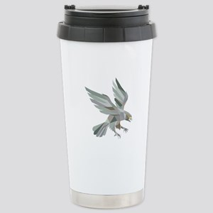 Peregrine Falcon Swooping Grey Low Polygon Travel