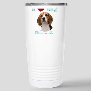 I Love My Beagle Stainless Steel Travel Mug